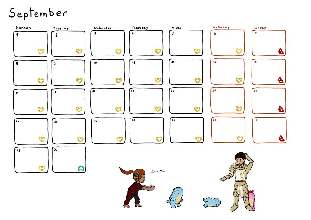 Calendar September by Neocropain