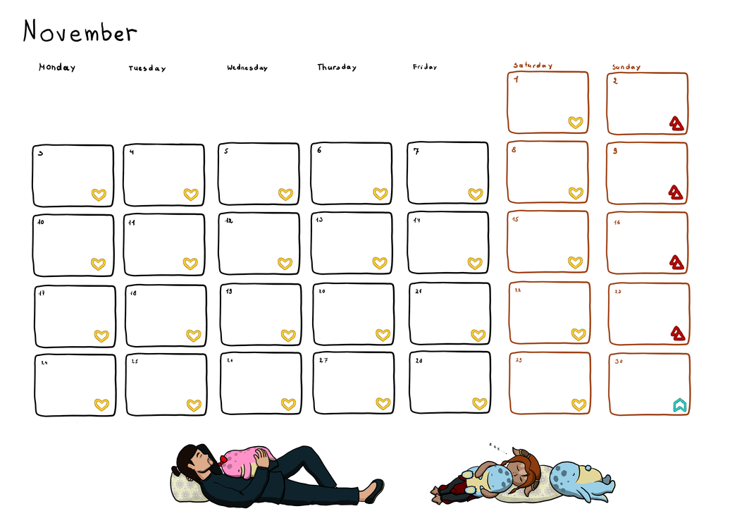 Calendar November by Neocropain