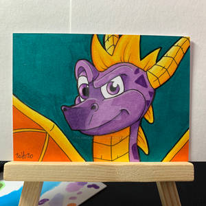 Spyro The Dragon Sketch Card