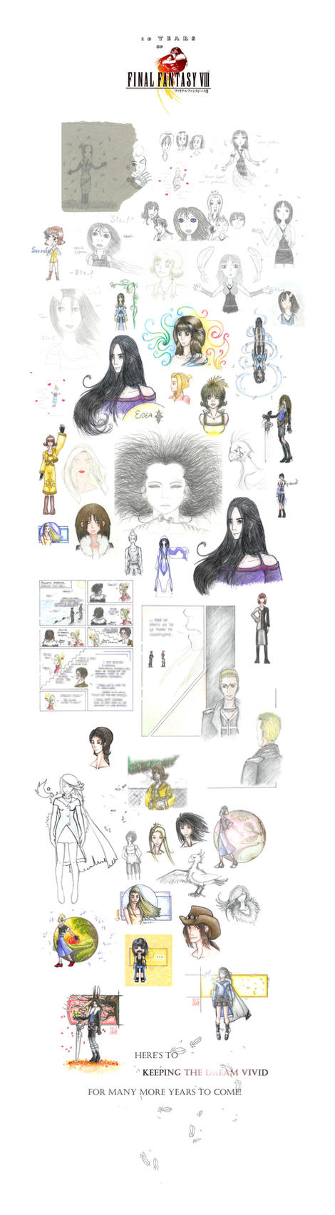 FFVIII: 1999-2009 by windinmysails