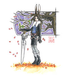 FFVIII+FFXII: Leon the Viera by windinmysails