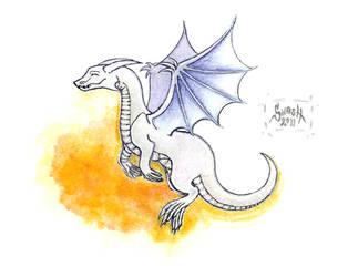 White Dragon - Hvitur by windinmysails