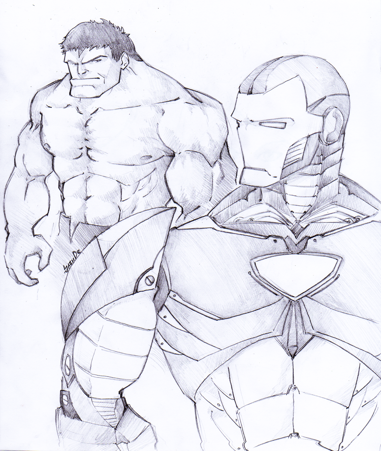 The Gallery For --u0026gt; Avengers Hulk Sketch