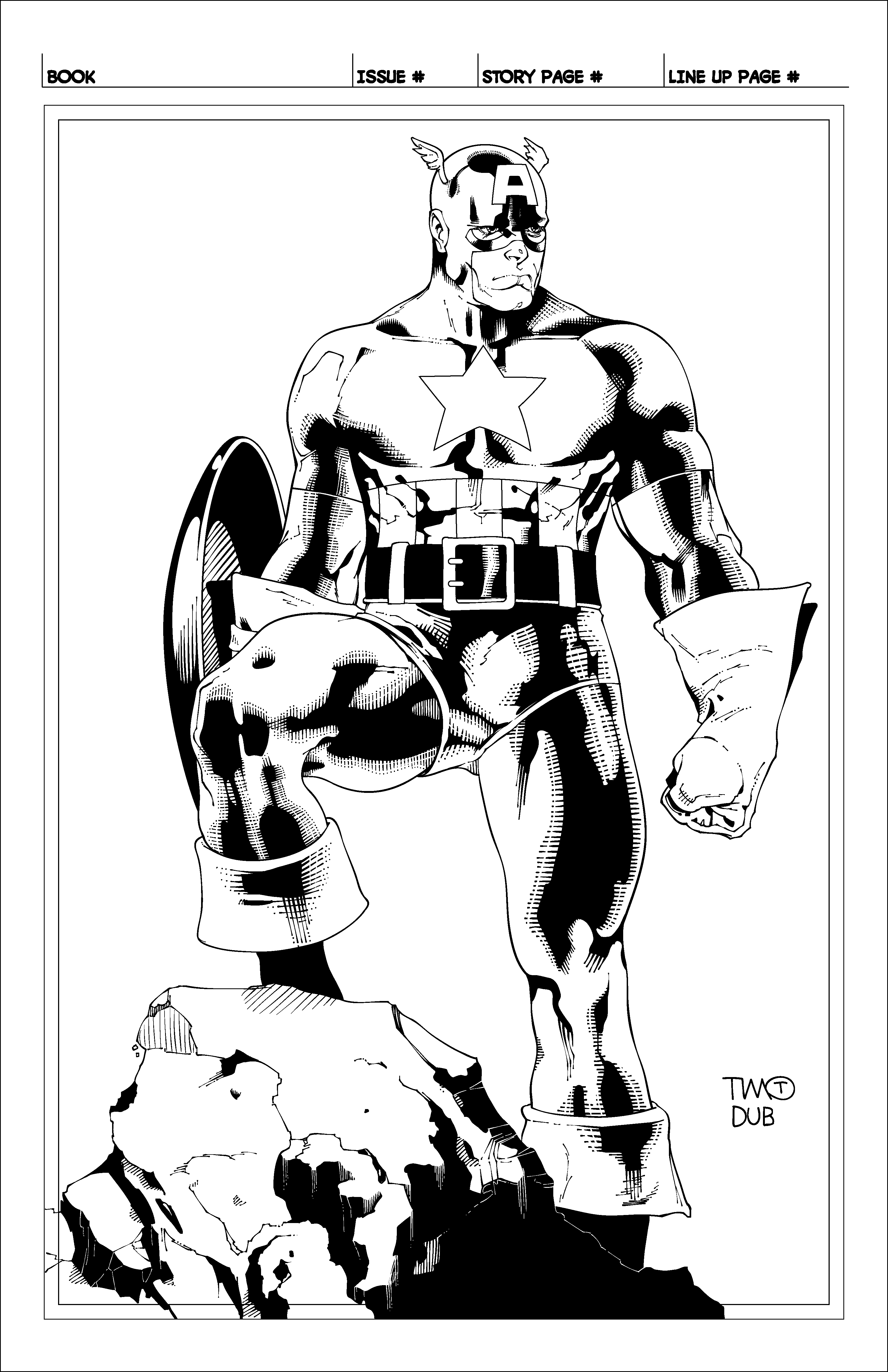 Line Art Resolution : High res timothy green ii s captain america by dubbery on
