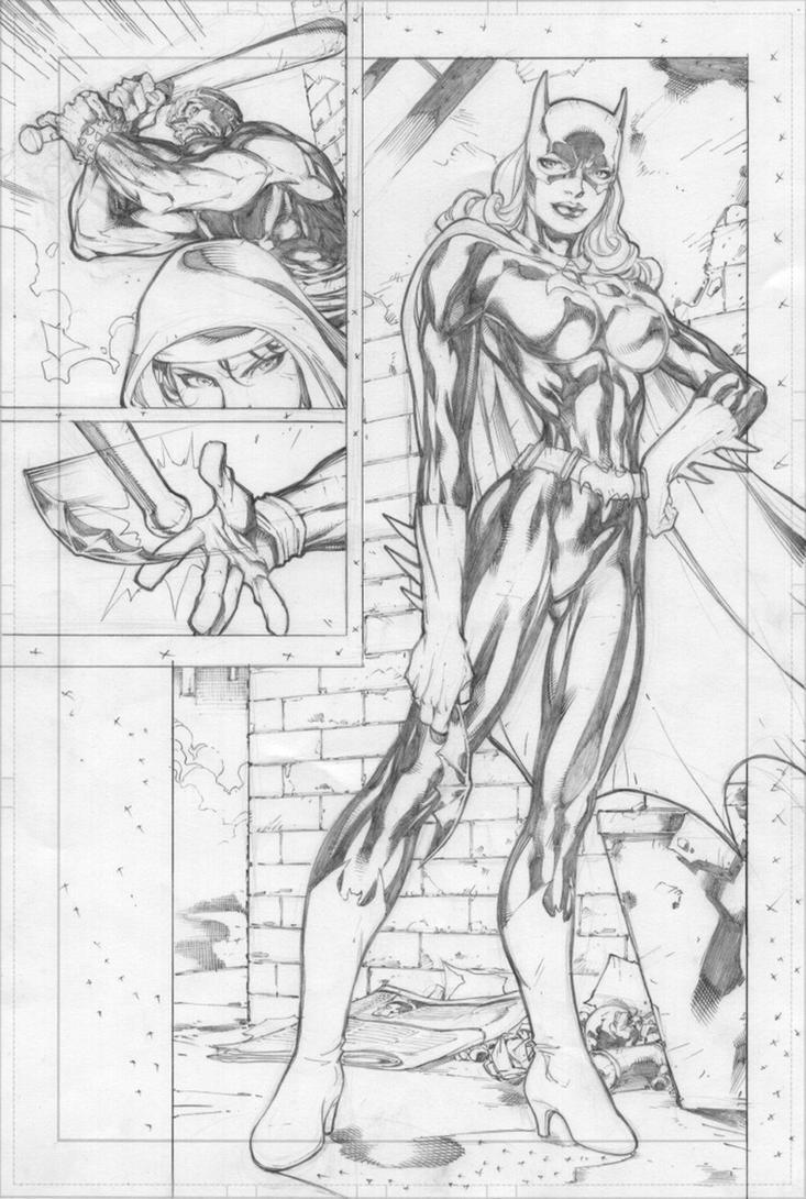 Benes Batgirl pencils by dubbery