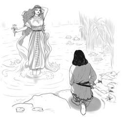Zoroastrian Divinities: Anahita by Maria-Bazhatarnik