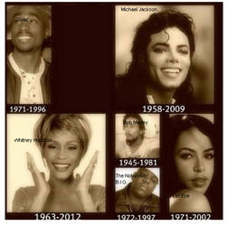 R.I.P. Greatest singers of all time by nickyyckin