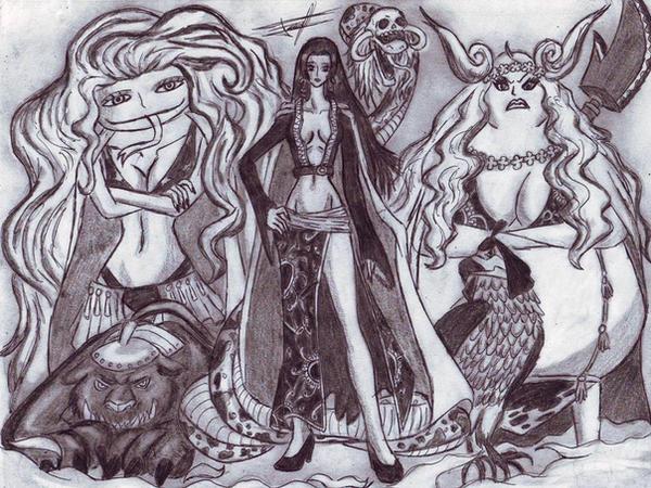 Gorgon Sisters One Piece Gorgon Sisters by Ferc...