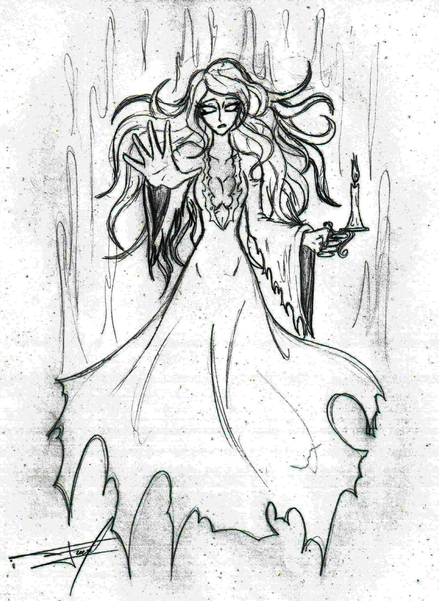 ghost girl drawing. monster girl challenge #16 ghost by ferchozaki drawing h