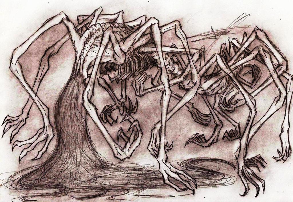 Sewer Centipede by Ferchozaki