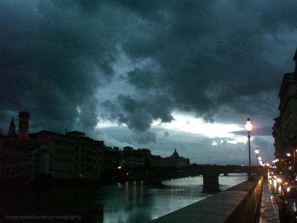 Storm Clouds Over the Arno by britishphoto