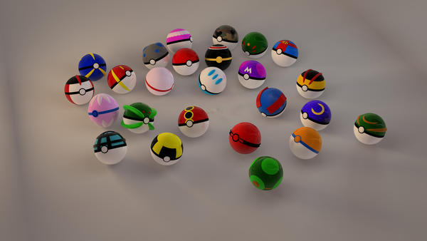 pokeball collection  in tota by yuah