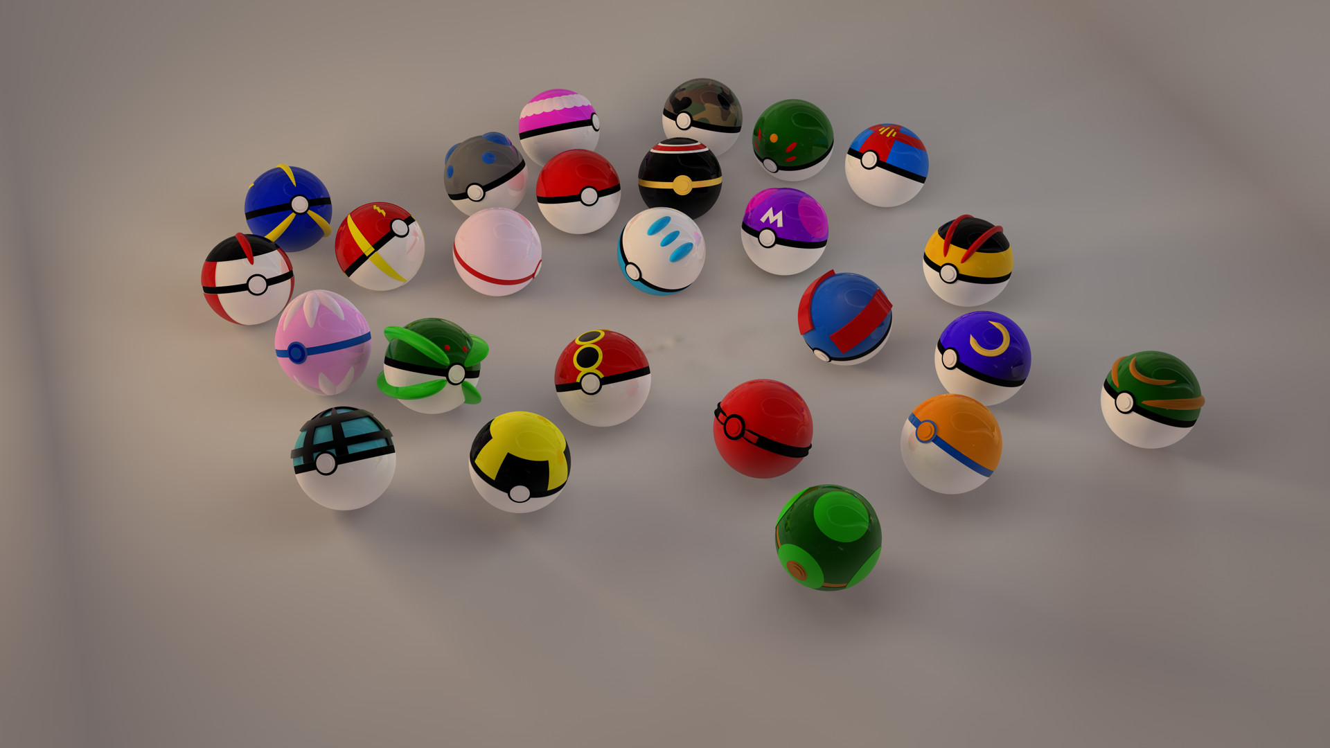 wallpaper background collection pokeball 1920x1080