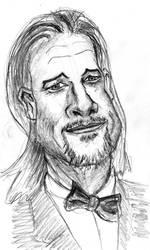 Brad Pitt caricature by SirDorius