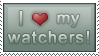I :heart: my watchers Stamp. by jugga-lizzle