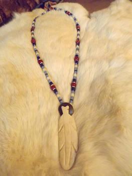 Feather Pendant, 1800's Regalia, long