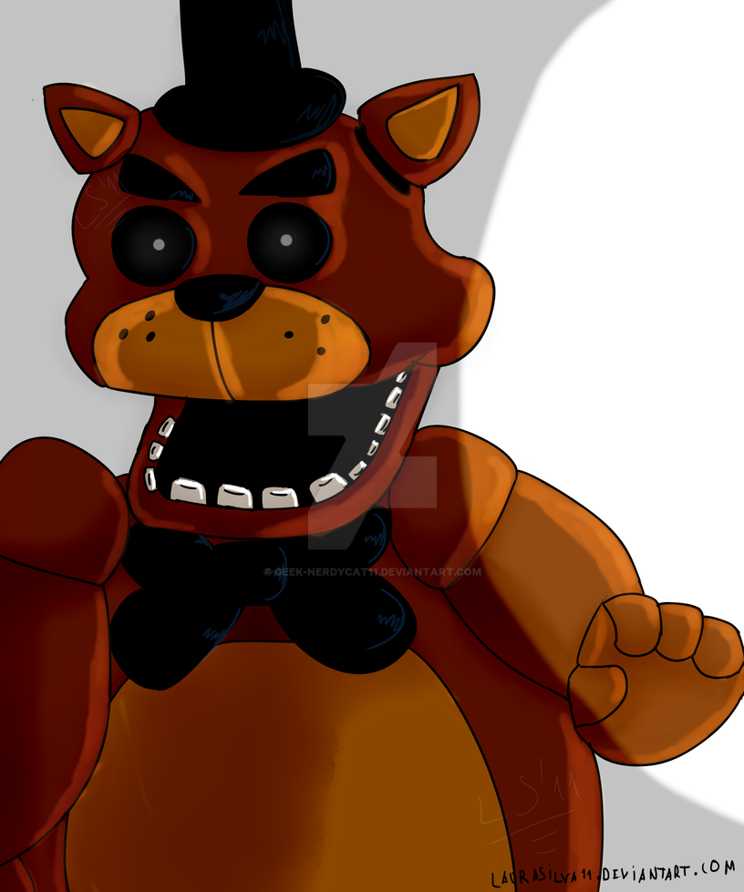Freddy Fazbear(old drawing :P) by Geek-NerdyCat11 on DeviantArt