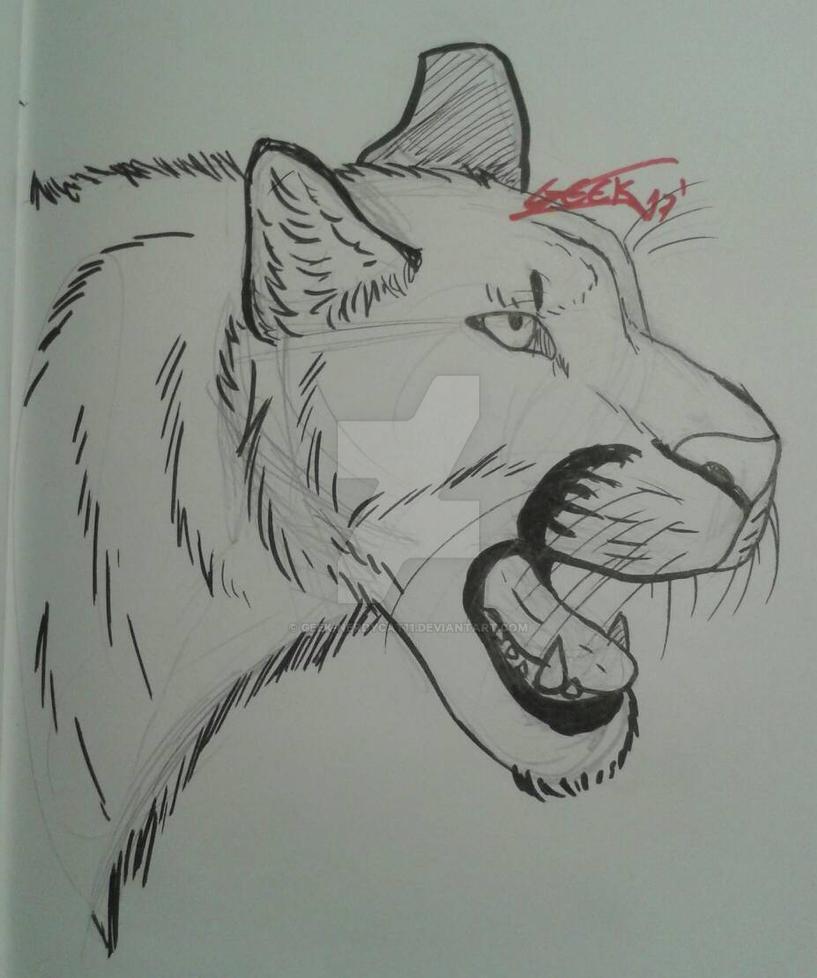Puma [Semi-Sketch] by Geek-NerdyCat11