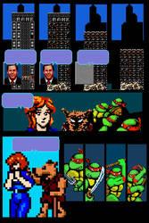 Video Game Tribute Comic (Mirage TMNT v.1 #2) by oldmanwinters