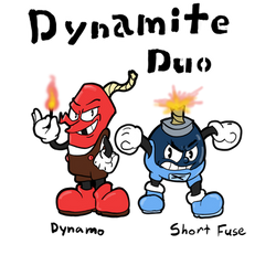 The Dynamite Duo: Cuphead Fan characters by TheHackingRotom