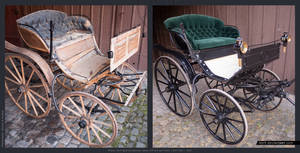 Brought an old horse cart back to life