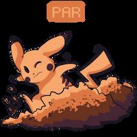 Autumn Pikachu by jelllybears