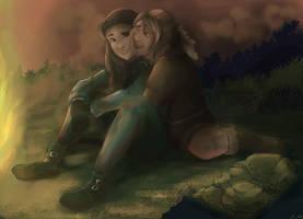 Speedpaint: Lark and Tembor by jelllybears