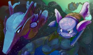 water pokemon speedpaint by jelllybears