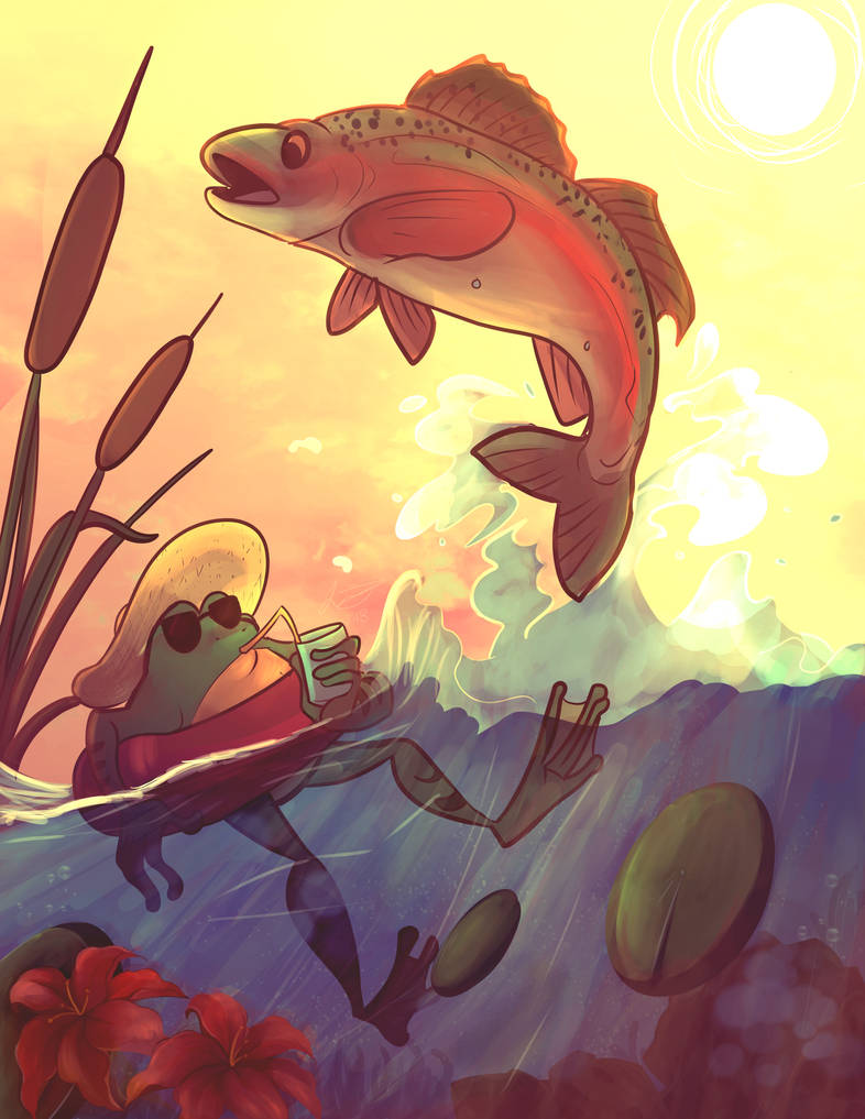 Summer Frog by jelllybears