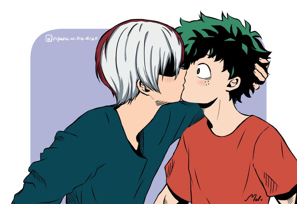 Todoroki Deku Kissing - 0425