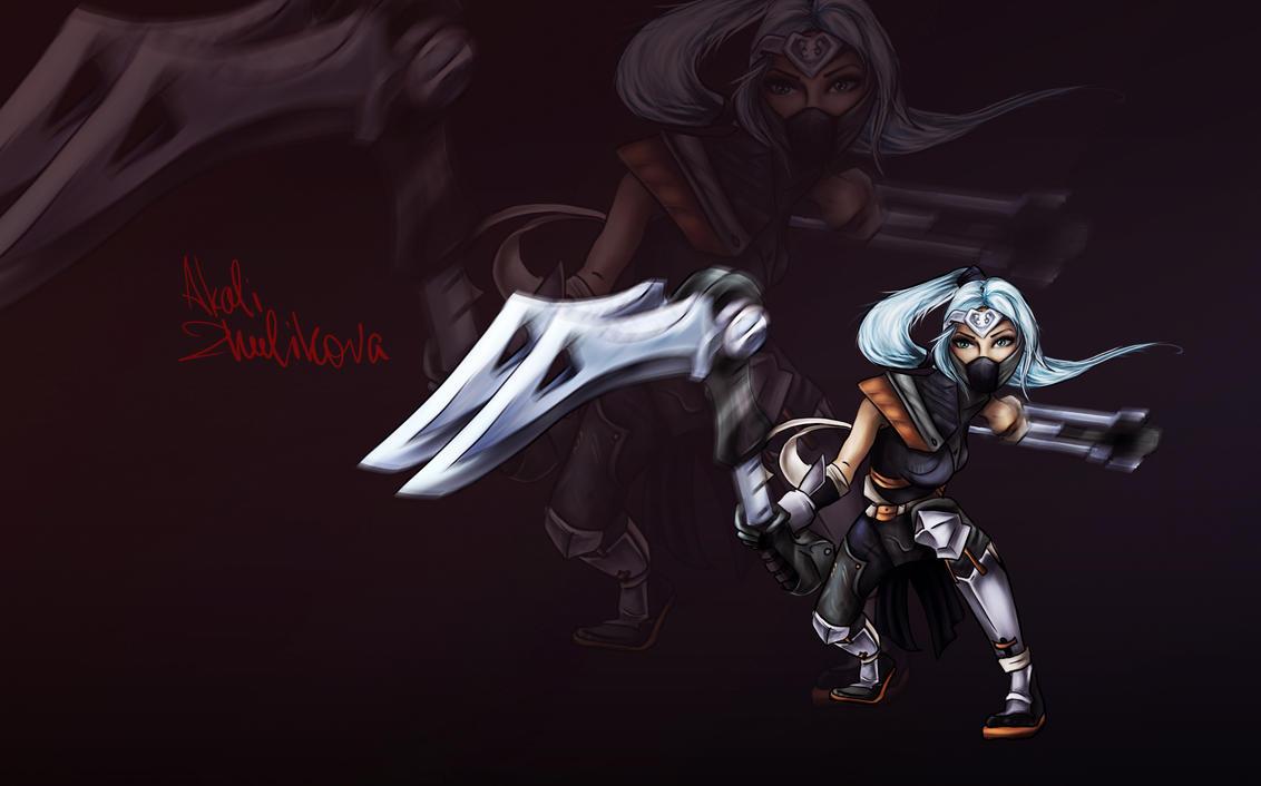 Wallpaper Silver Fang: Silverfang Akali By Zhulikova On DeviantArt