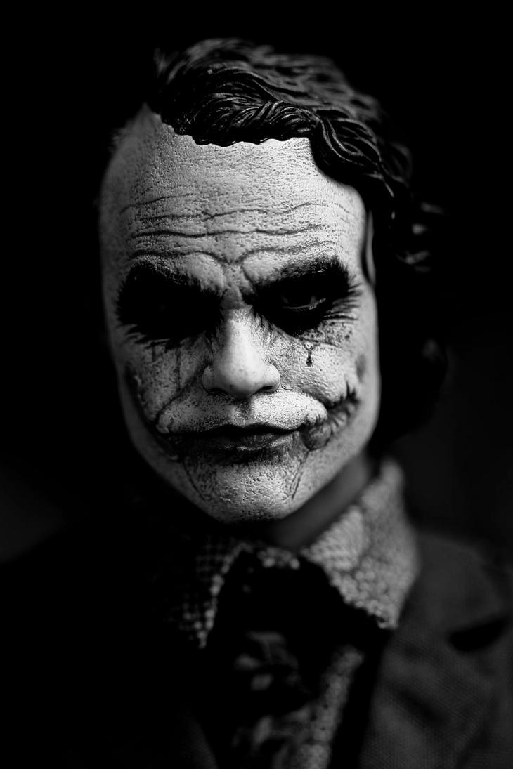 joker black 'n' white by lovethejoker