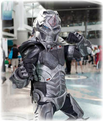 Mortal Kombat - Cyber Smoke cosplay by Xailas7