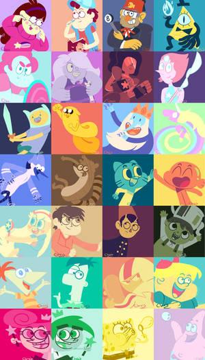 Cartoons Collor Palette