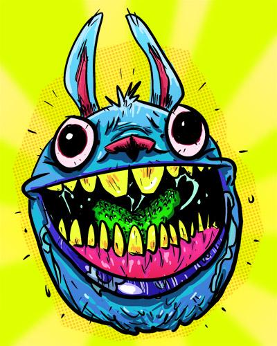 Happy Bunny by lemonheaded