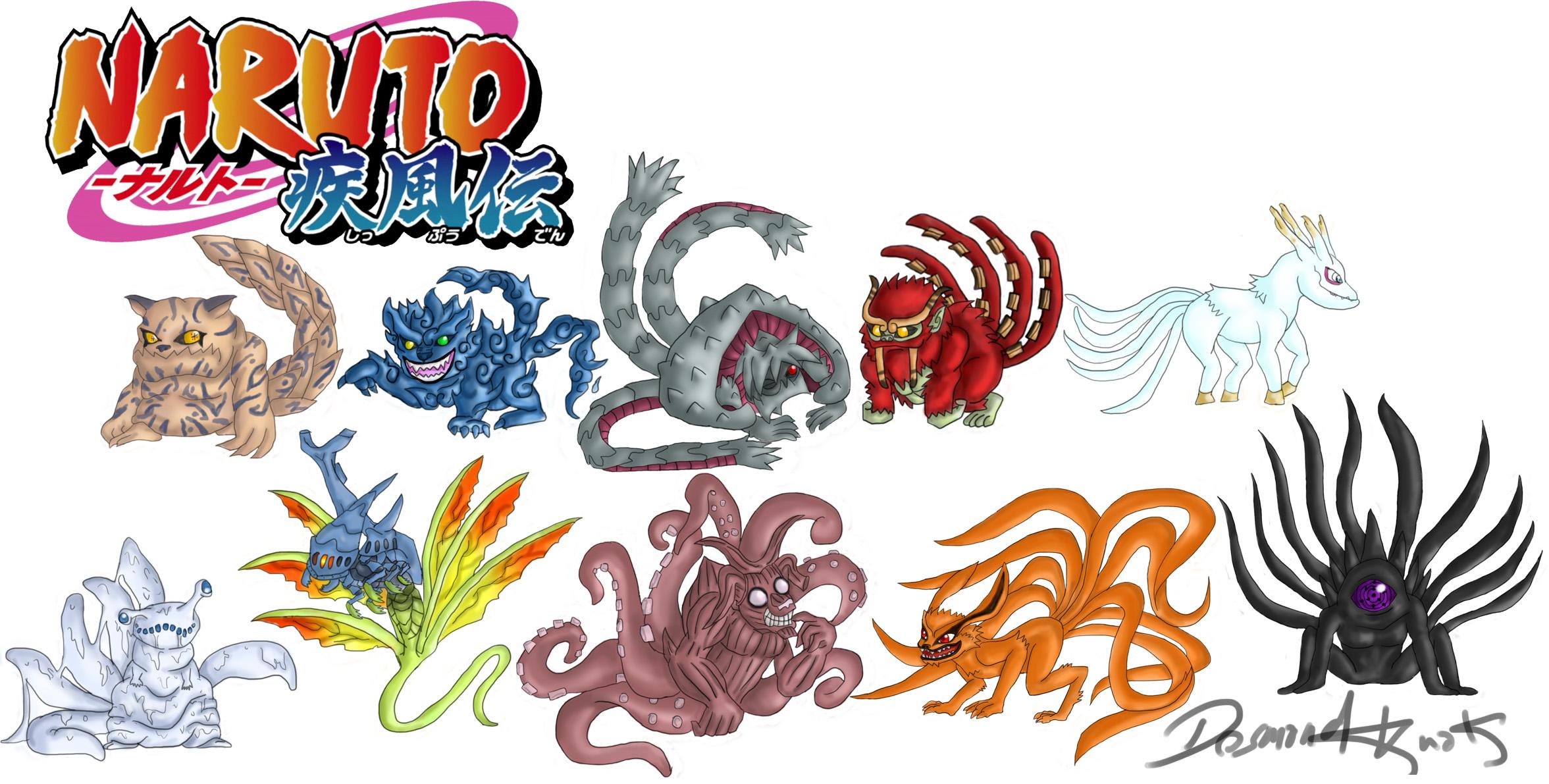 Naruto Shippuden: Tailed Beasts (Bijus) by poizonazn