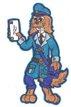 Taco the Maildog