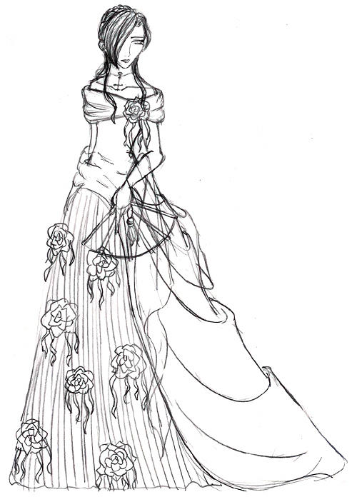 How to draw pretty dress for Pretty sketches