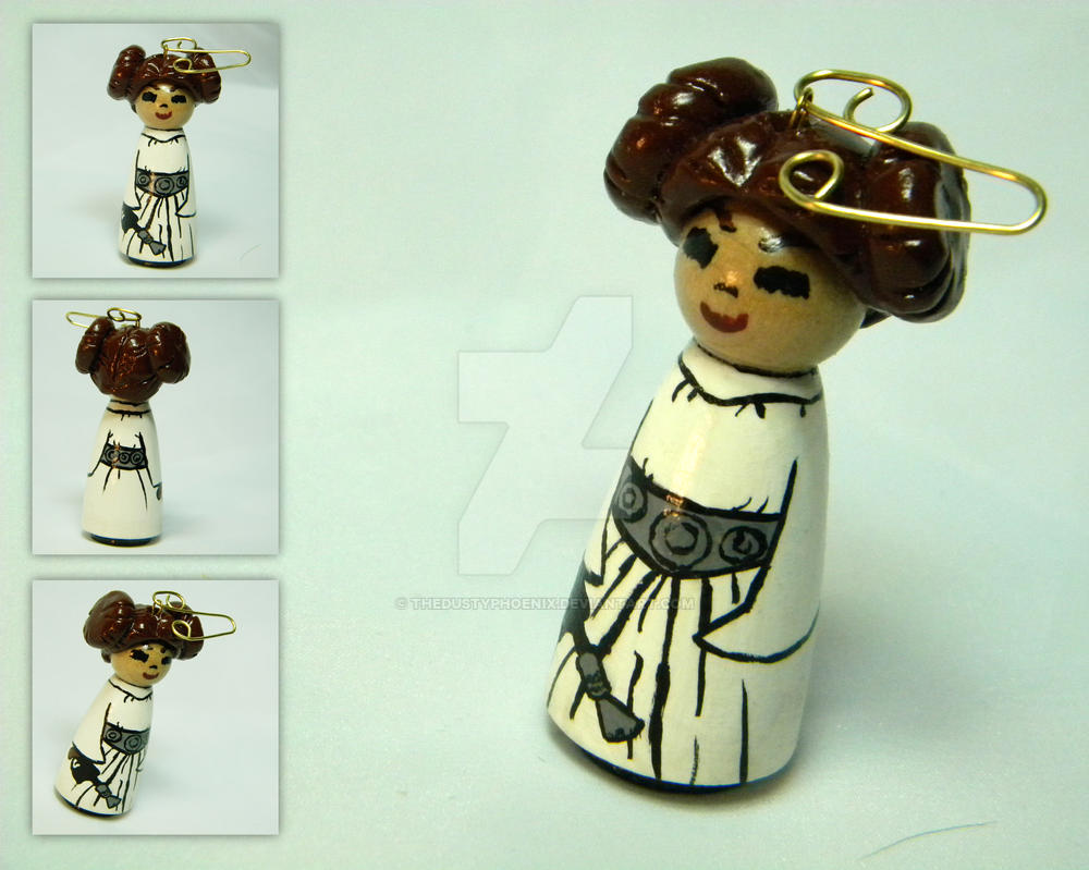 Hand Painted Leia Ornament