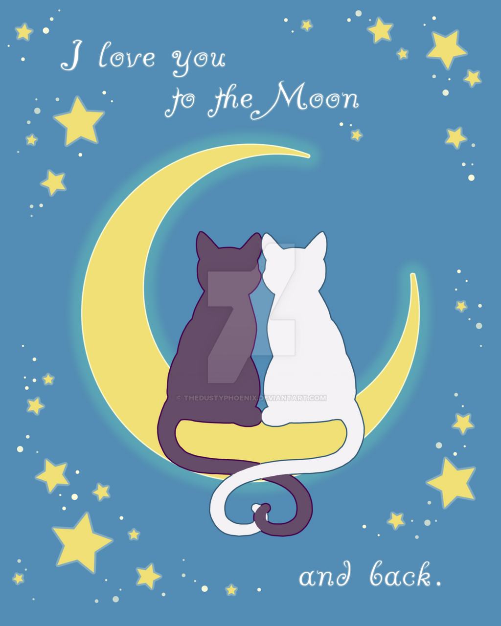 Moon Cats by thedustyphoenix