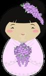 Kokeshi Wisteria Bride