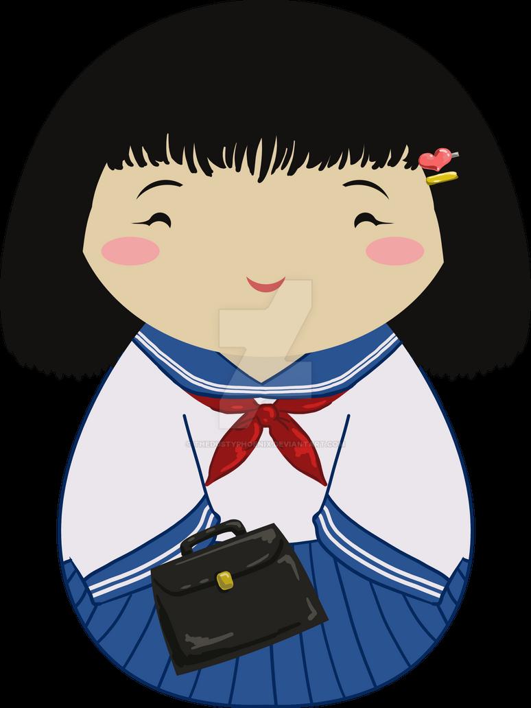 Kokeshi School Girl by thedustyphoenix