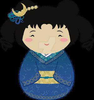 Kokeshi Golden Moon