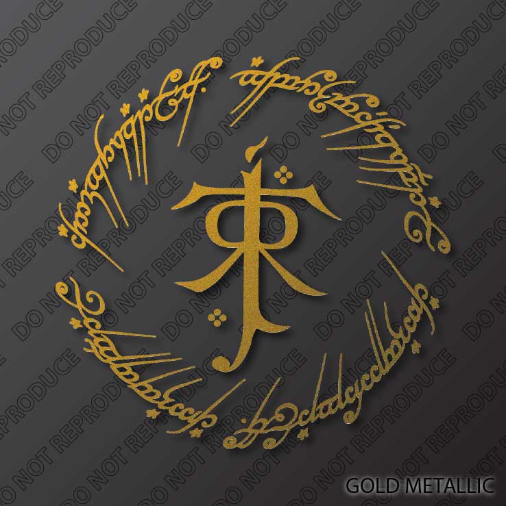 Jrr Tolkien The One Ring Stylized Monogram By S4sarahssigns On