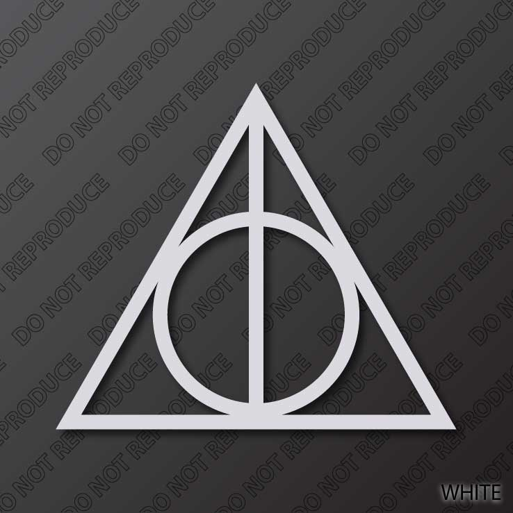 Harry Potter Deathly Hallows Symbol Precise Edges By S4sarahssigns