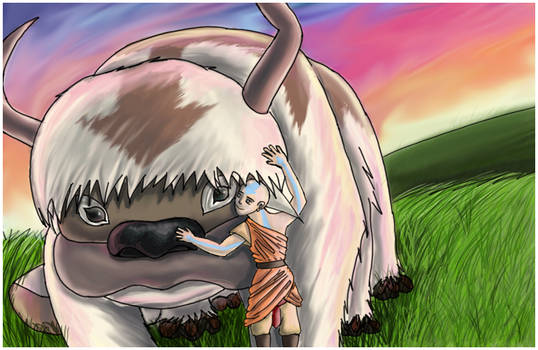 Sunset: Aang and Appa