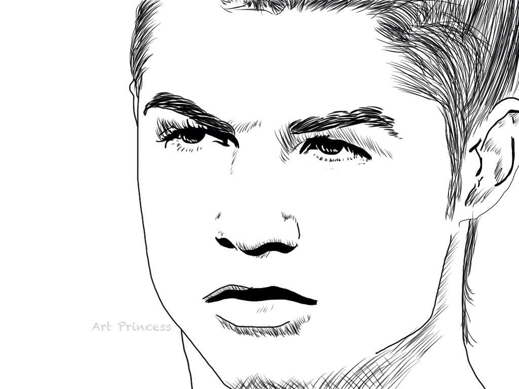 Cristiano ronaldo by theartprincesss on deviantart - Ronaldo coloriage ...