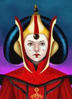 Star Wars: Amidala as a queen by Masanohashi