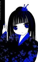 Enma Ai-black, white, blue by Ivy-Tears