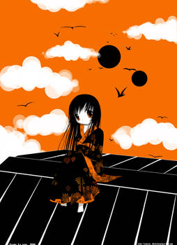 Enma Ai: black, white, orange